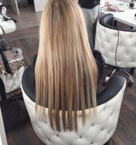Наращивание волос микро, мини