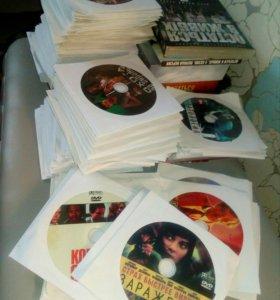 Dvd диски с фильмами 150шт