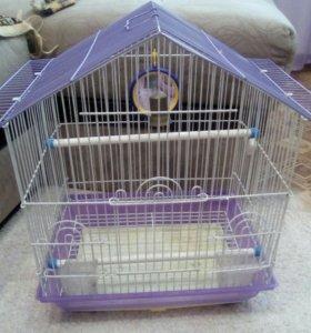 Продам клетку для попугая. В хорошем состояние.