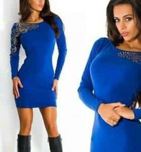 Платье Беверли, синее, новое