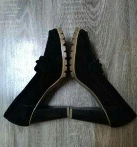 Туфли натуральная кожа, натуральная замша