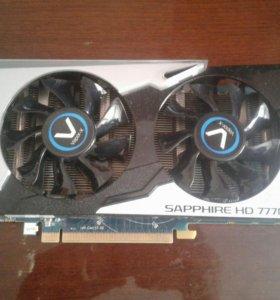 Видеокарта Radeon HD 7770 sapphire 1 gb