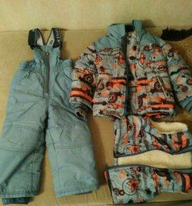 Зимний комплект (куртка,комбинезон и жилет)