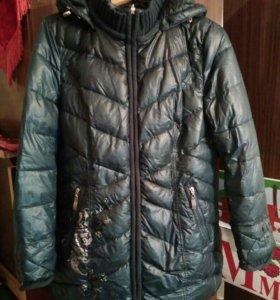 Теплая зимняя куртка размер 48-50