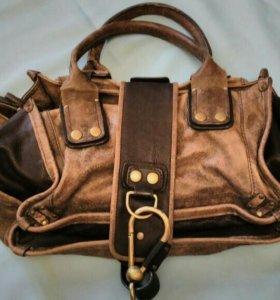 Необычная кожаная сумка Chloe