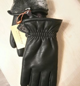 Мужские кожаные ( экокожа )  перчатки, .