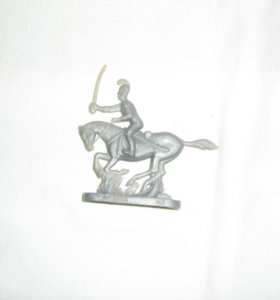 Пластмассовый гусар на лошади