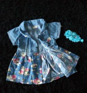 Платье из тонкого денима