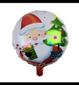 Новогодние фольгированные шары с гелием