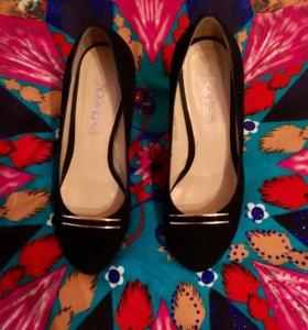 Туфли натуральная замша, 34 размер