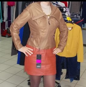 НОВАЯ с этикеткой кожаная куртка (Турция)