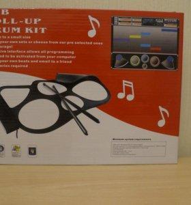 Барабаны USB Roll-up Drum kit