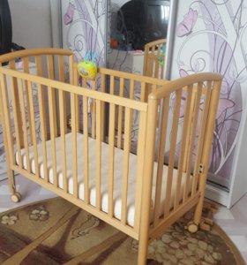 Кроватка детская PALI уменьшенная. 120 см на 60см.
