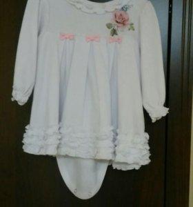Платье-боди ,68—74 рост