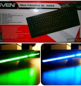 Клавиатура с подсветкой Sven новая