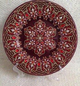 Тарелка декоративная. Подарок ручной работы