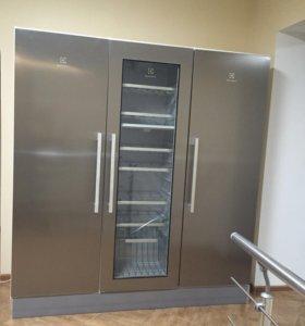 Холодильник+морозильник+винный шкаф