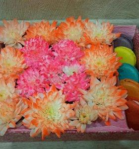 Цветы с макарунами