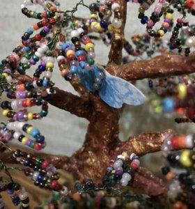 Дерево бон-сай из бисера