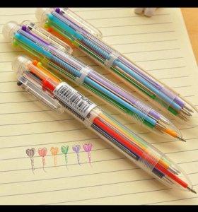 Ручка 6 цветов