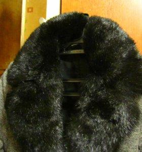 Пальто шерстянное, с подкладкой