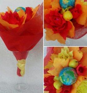 Букет из конфет на День Учителя!💼💐🍁🍁🍁🍁🍁🍁🍁