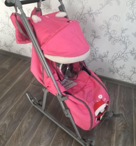 Санки коляска для девочек