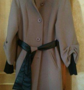 Пальто кофейного цвета