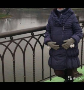 Пальто на синтепоне для беременных