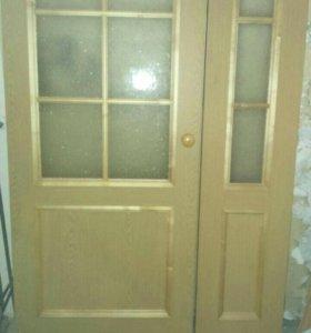 Двустворчатая межкомнатная дверь