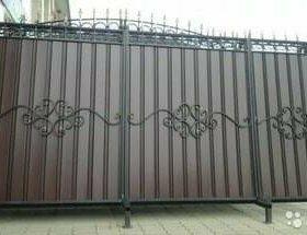 Ворота фасадные