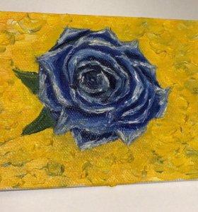 ❣️картина маслом, голубая роза