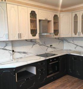 Замена фасадов и столешниц на кухнях