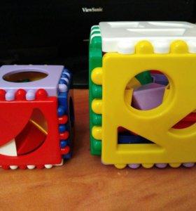 Логические кубики. Цвет и форма