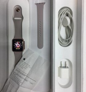 Apple Watch 38mm s1 rose gold с чеком