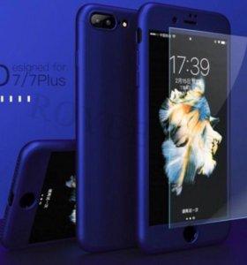 Чехол Case iPhone 7 синий