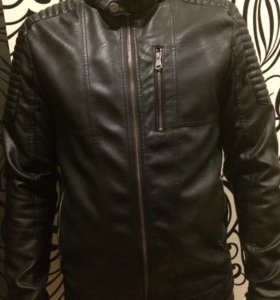 Кожаная мужская куртка Турция