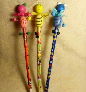 Канцтовары карандаши(новые)