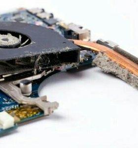 Чистка ноутбуков и ПК от пыли