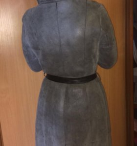 Пальто зимнее СНЕЖНАЯ КОРОЛЕВА с натуральным мехо