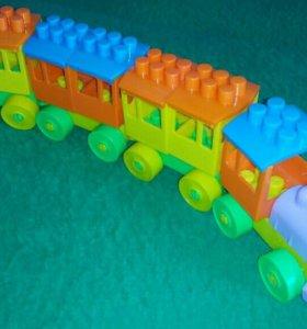 Полесье Паровоз с тремя вагонами