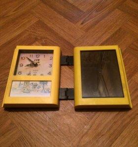 Складные кварцевые часы с фотографией