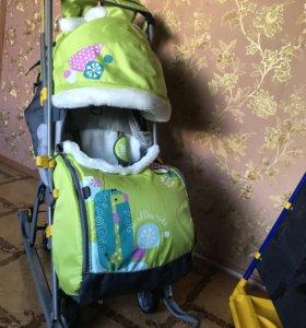 Санки-коляска Ника детям 7-2