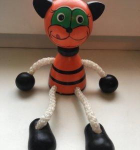Тигр деревянный