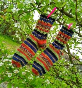 Носочки разноцветные вязаные