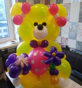 Медведь и другие фигуры из шаров