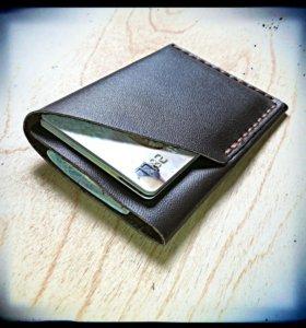 Компактный кошелёк из натуральной кожи