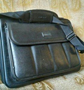 сумка для ноутбука 41х29х12 кожанная