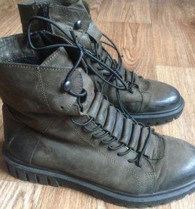 Женские ботинки натуральный нубук 39 размер