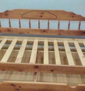 Деревянная кровать 200*90см